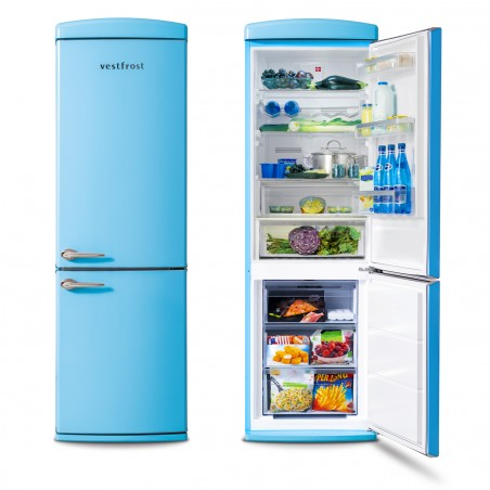 Free-standing Fridge-freezer in blue